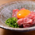 The restaurant certified by the Country! Taste Omi beef yukhoe in Kyoto!