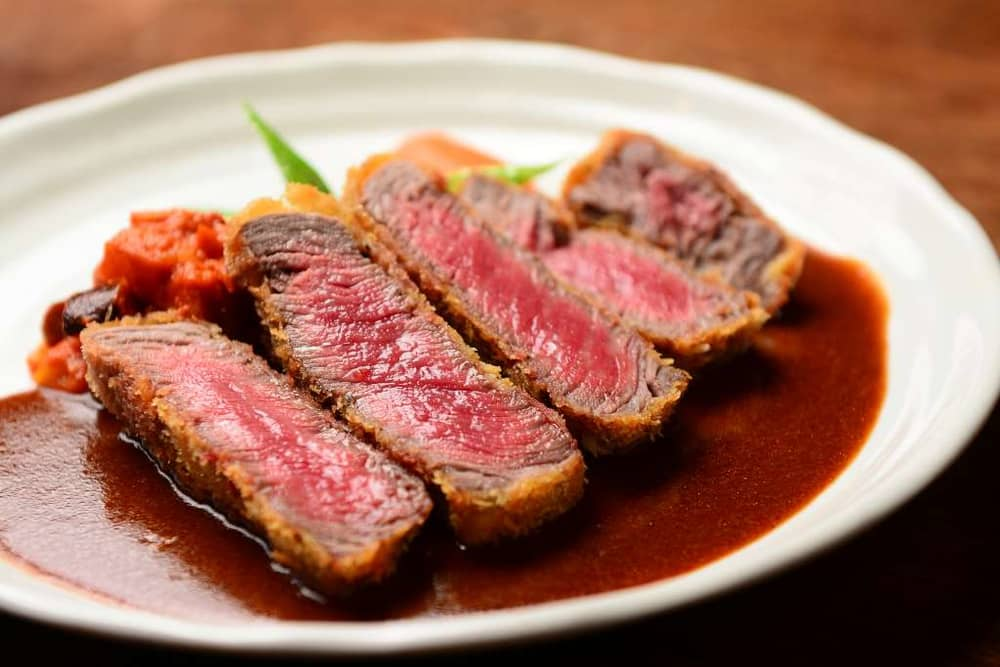 Taste the Beef cutlet made from 100% Wagyu at Hafuu