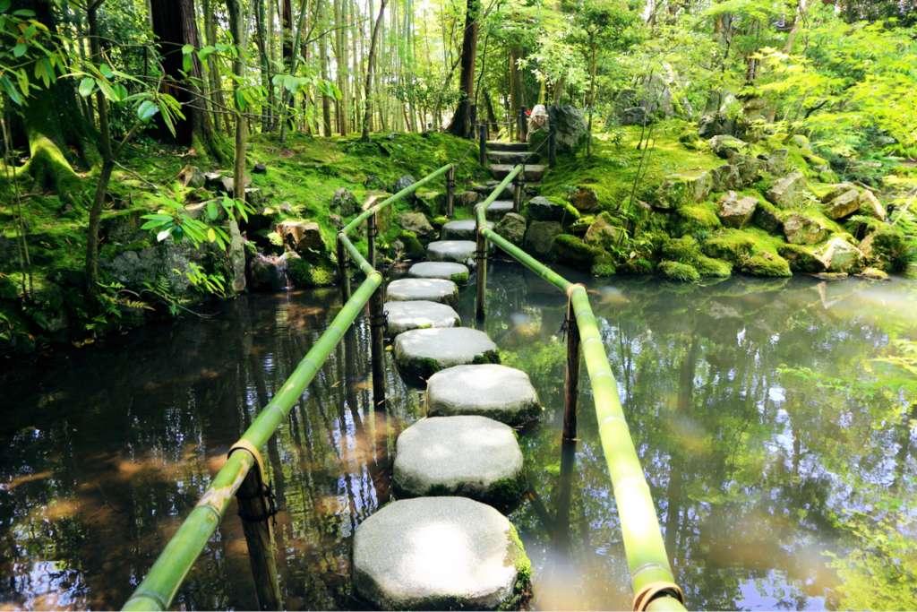 在充满了生命力,被如绿宝石翠绿包围的「天授庵」感受水庭之乐