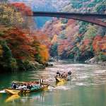 """龜岡~嵐山的著名的觀光船、體驗活動""""保津川下行"""""""