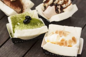 Try the Green Tea Swiss Roll at Arashiyama!