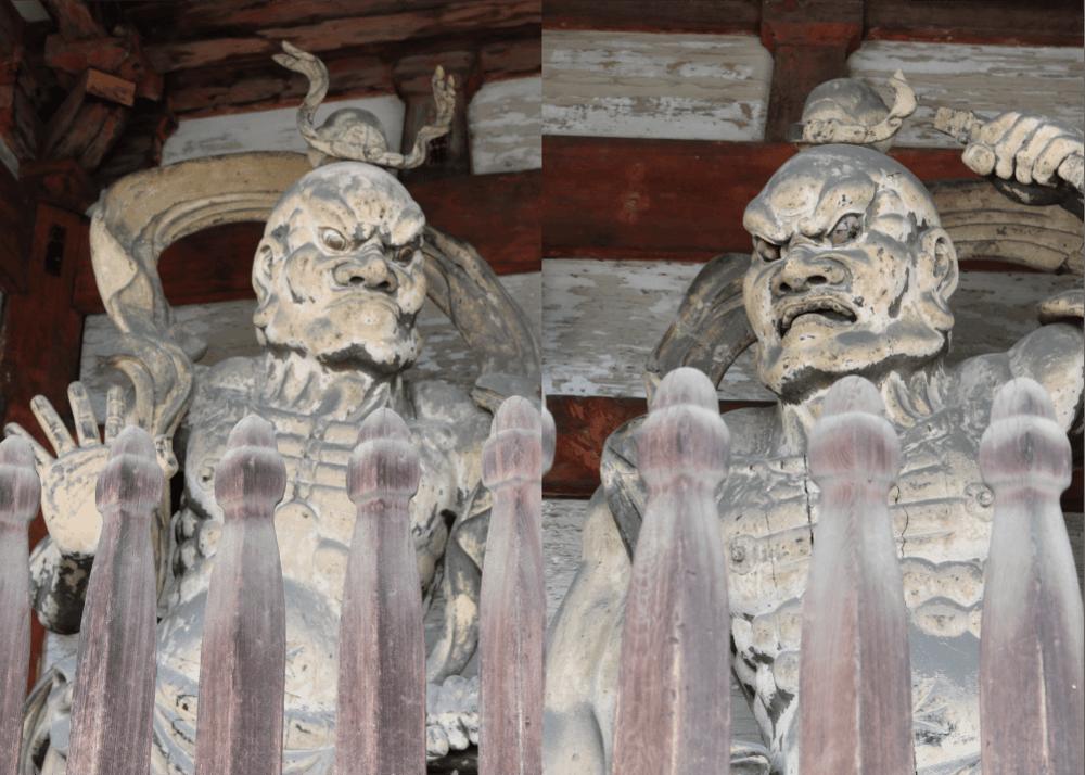 仁和寺を守る阿形と吽形