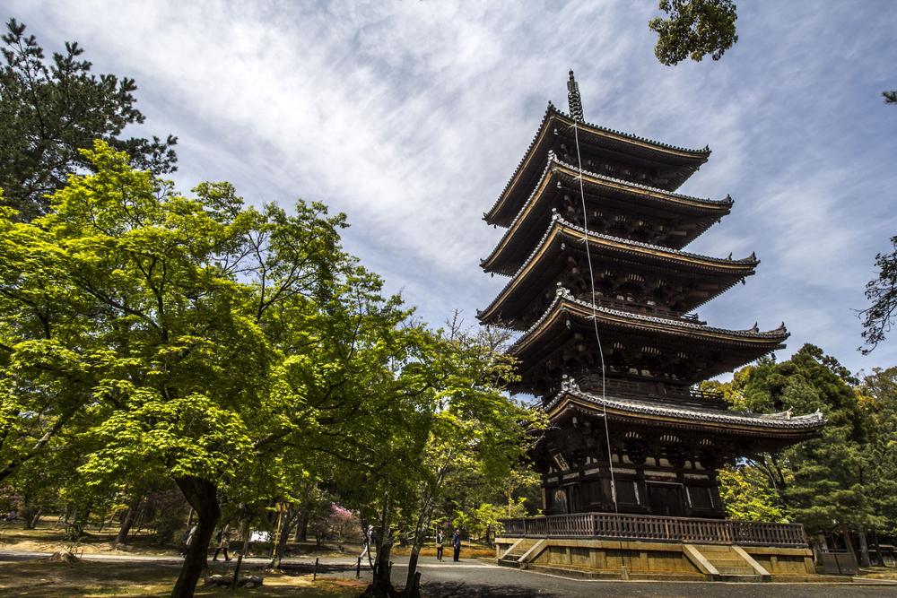 北庭から観る五重塔