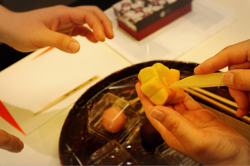 Enjoy making traditional Japanese sweets at Kameya Yoshinaga