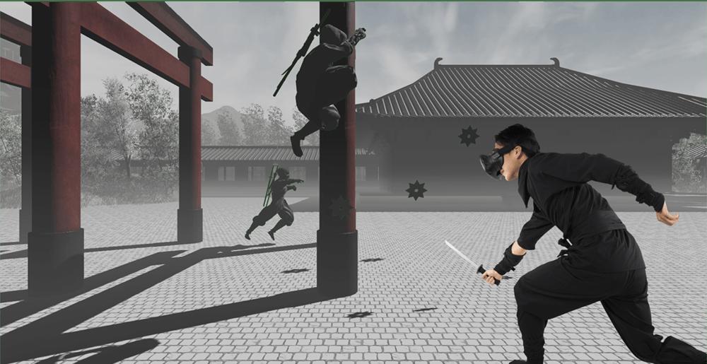 VRでバーチャル忍者修行