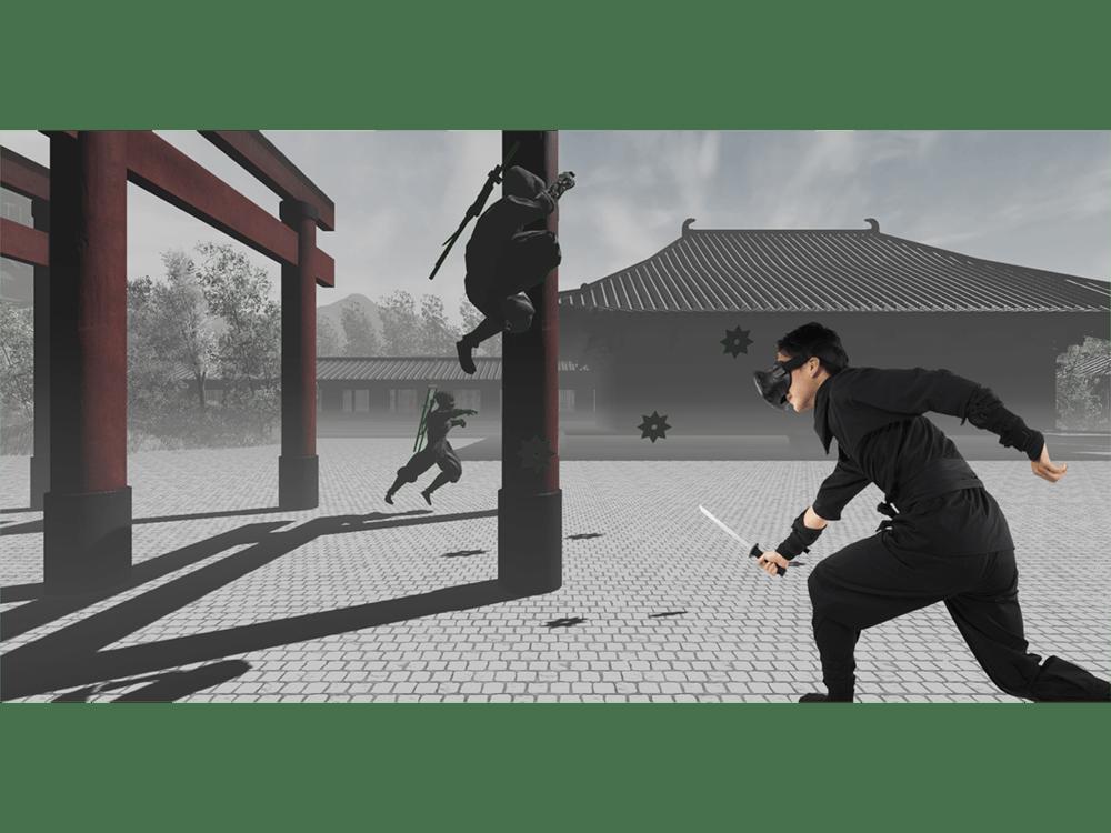 通過VR來假想忍者修行