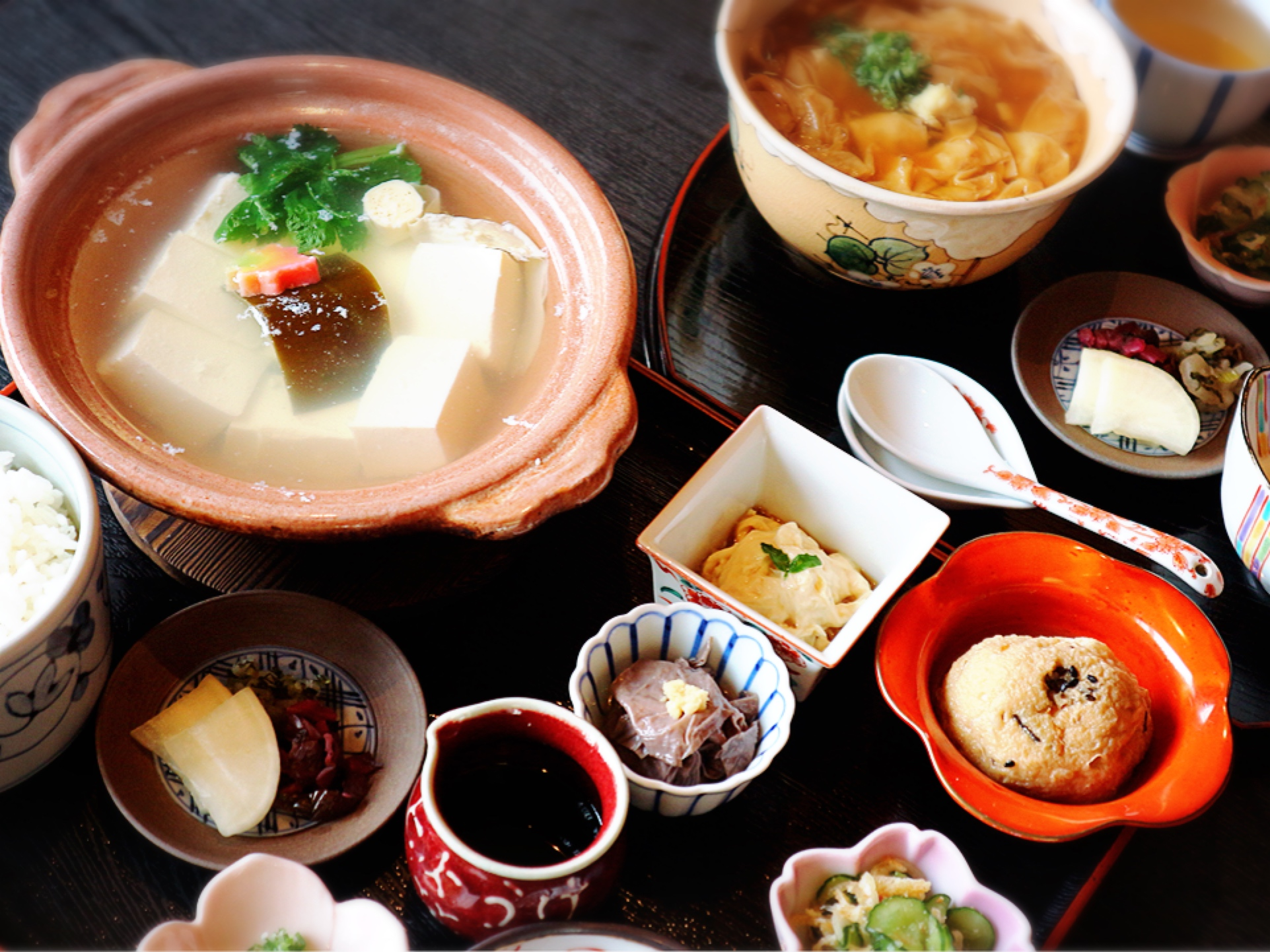 Rich variations of Tofu cuisine
