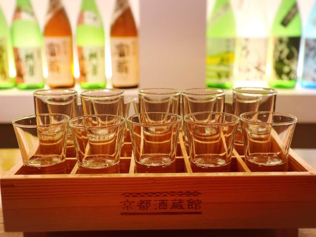 可在釀酒廠裡休閒度過快樂的時光!擺放了很多在京的日本酒「京都酒蔵館」