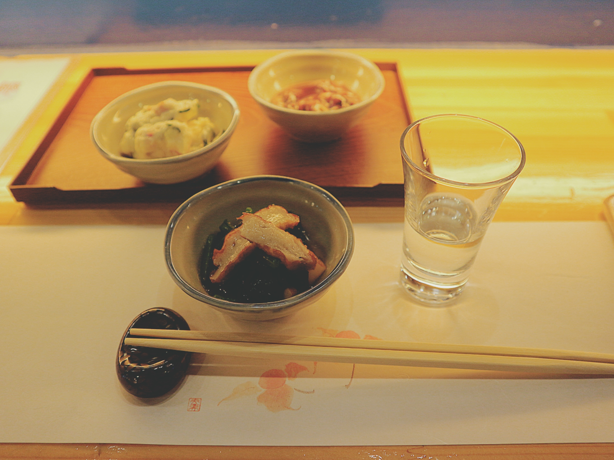 可以享用一次美味的日料和日本酒