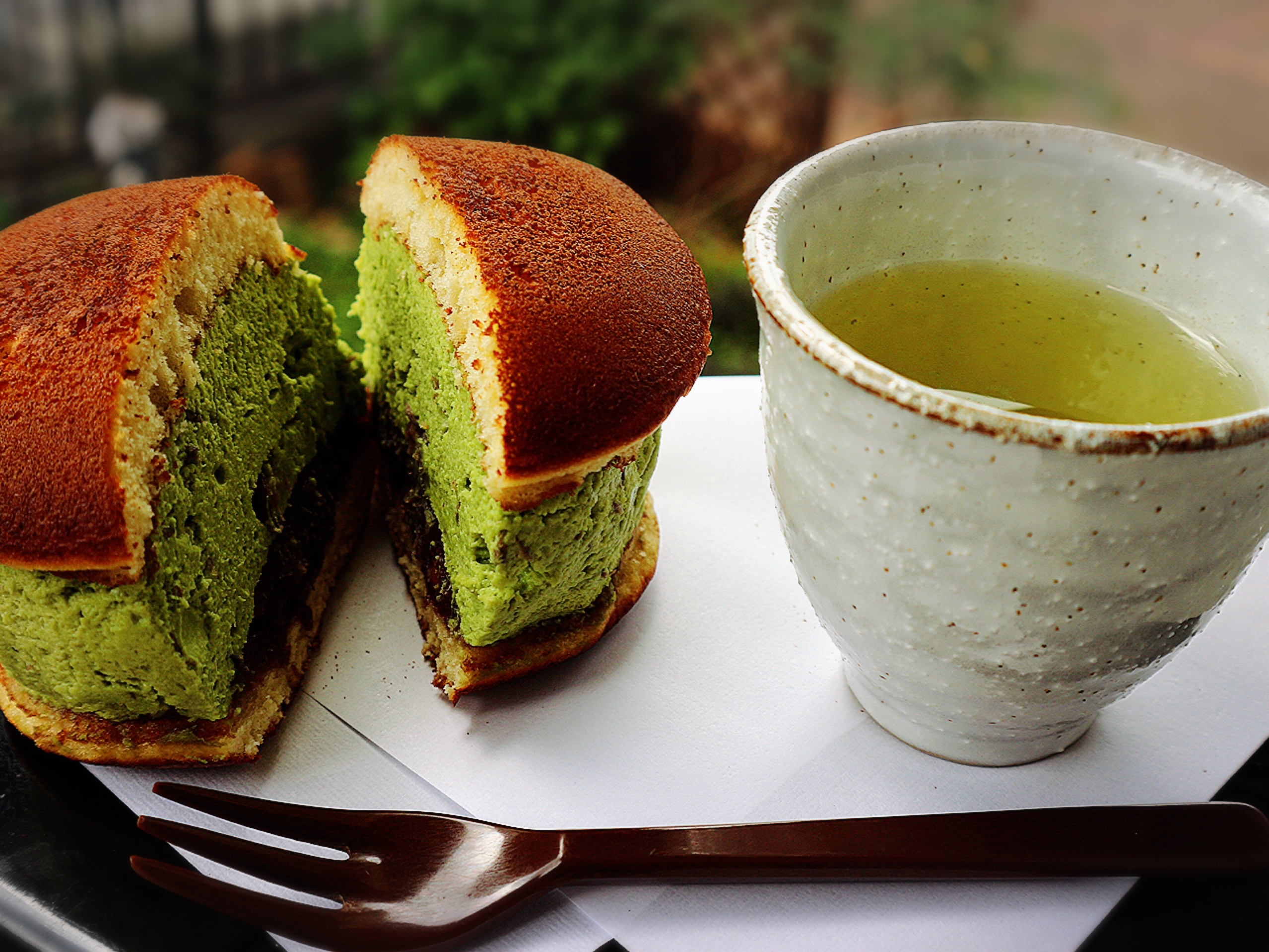 Matcha sweets characterstic of Kyoto