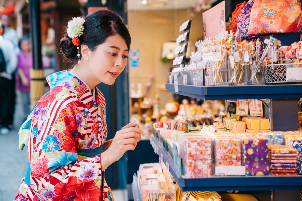 For women please try taking the lovely silk crepe goods in your hands.
