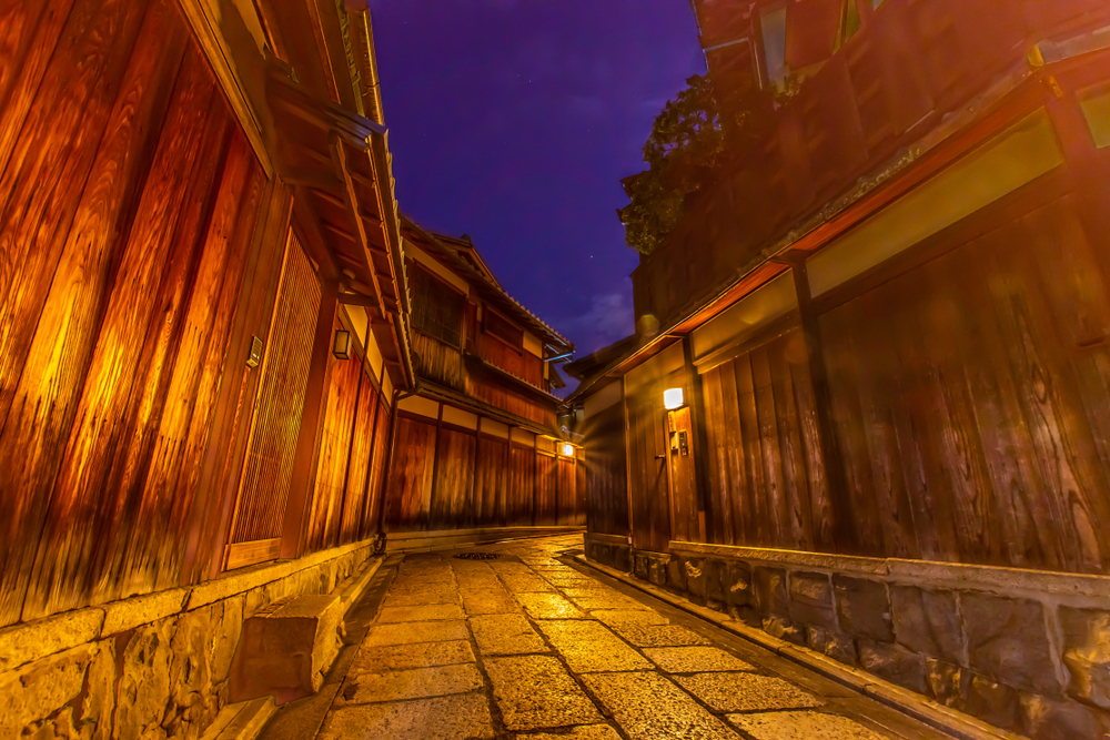 Find remnants of traditional Japan in Kyoto's alleys