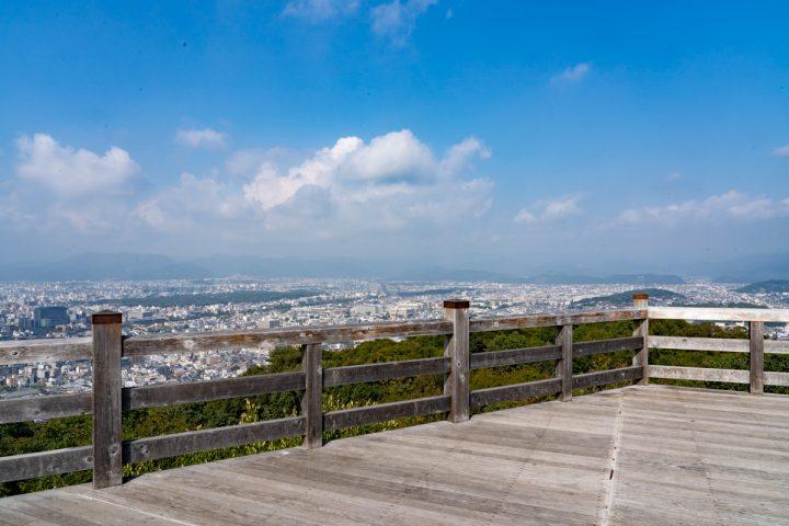 将軍塚から京都市内を一望