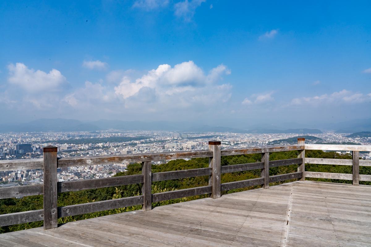 Panoramic view of Kyoto City from the Shogunzuka hill