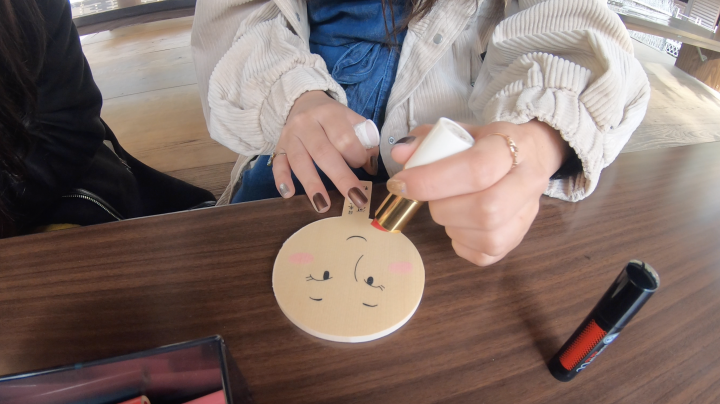 ■「鏡絵馬」をメイクアップ!